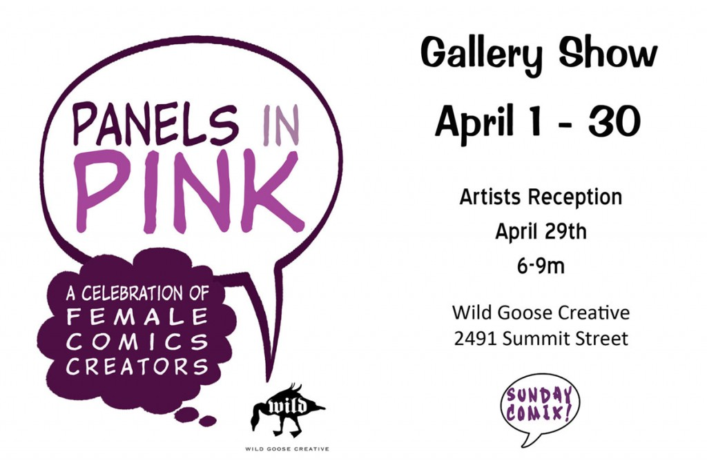 Panels in Pink flyer