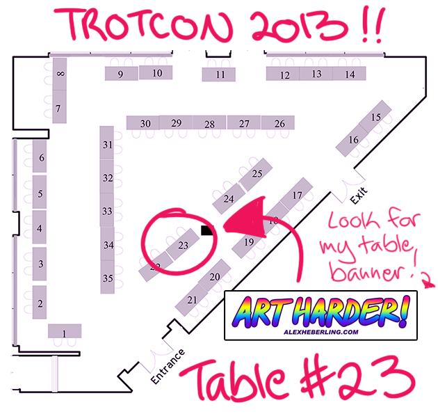 TrotCon Artist Acres Map