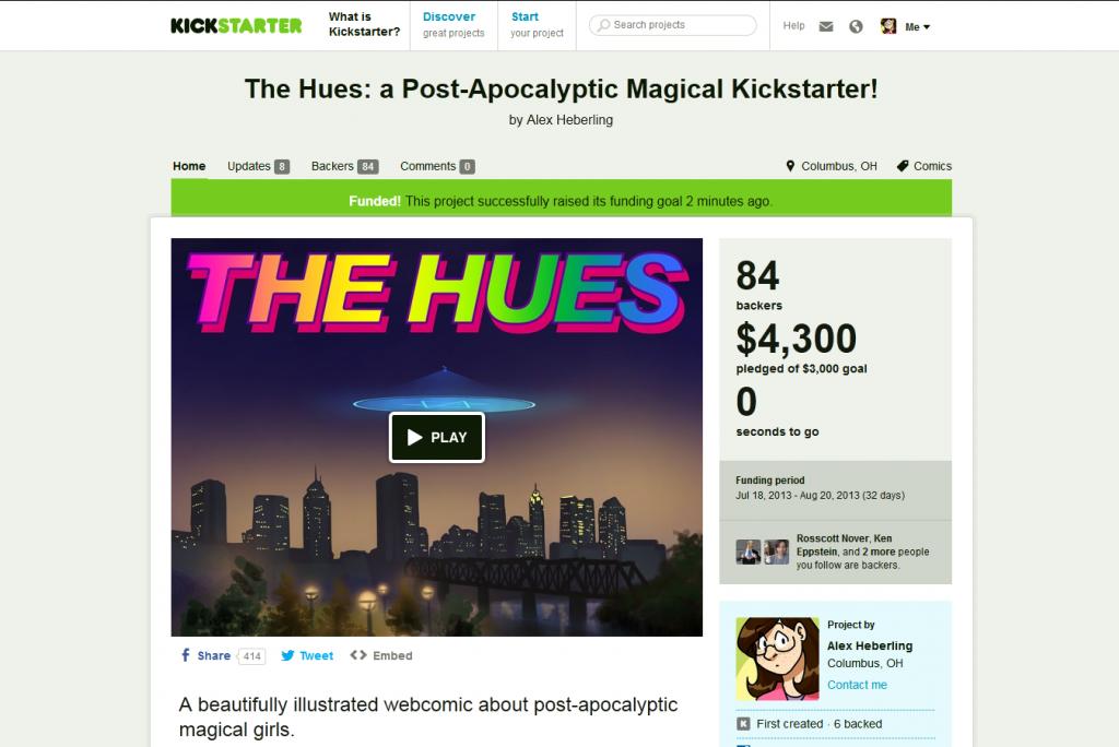 Kickstarte ending screenshot