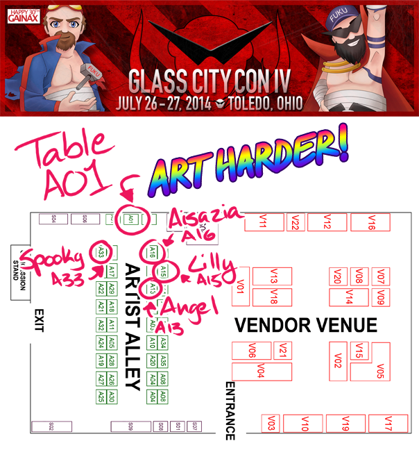 Glass City Con 2014 Map