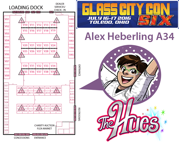 2016 glass city con map